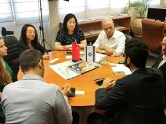 以色列商会联合会主席与中方访者探讨合作